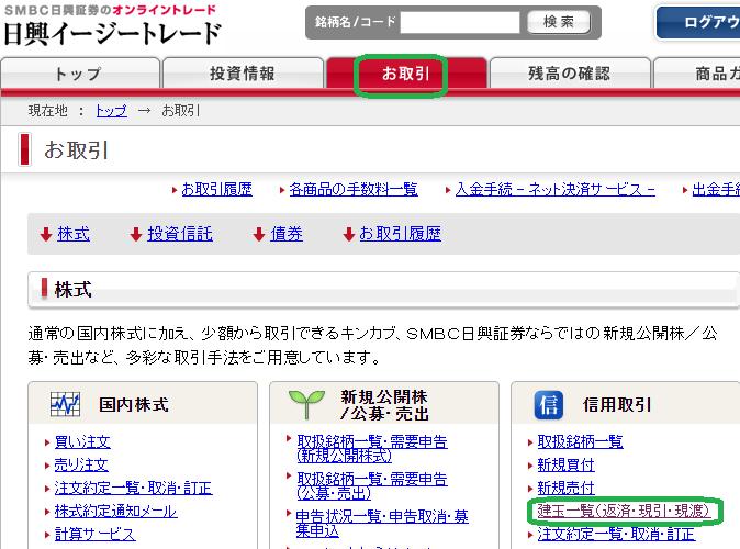ログイン 日興 トレード 証券 イージー