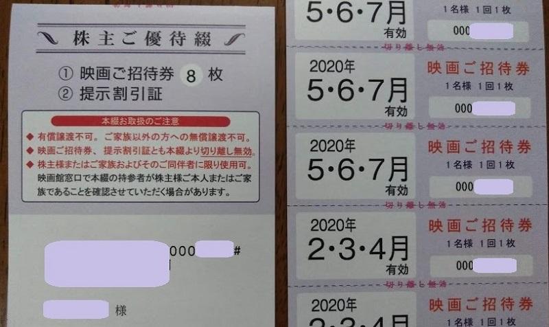 東京テアトル 優待