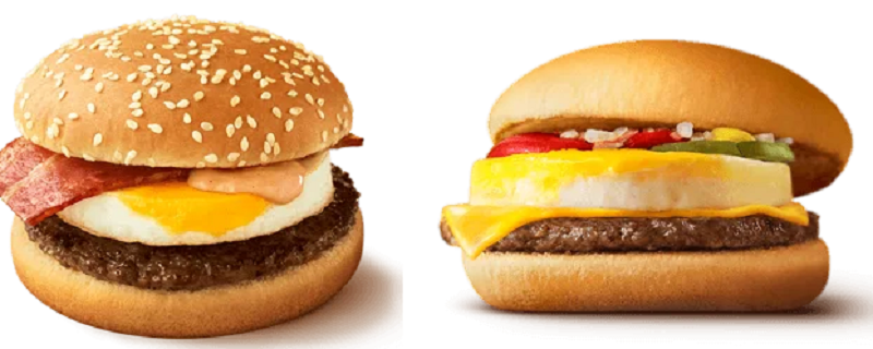 月見バーガーとエッグチーズバーガー(エグチ)