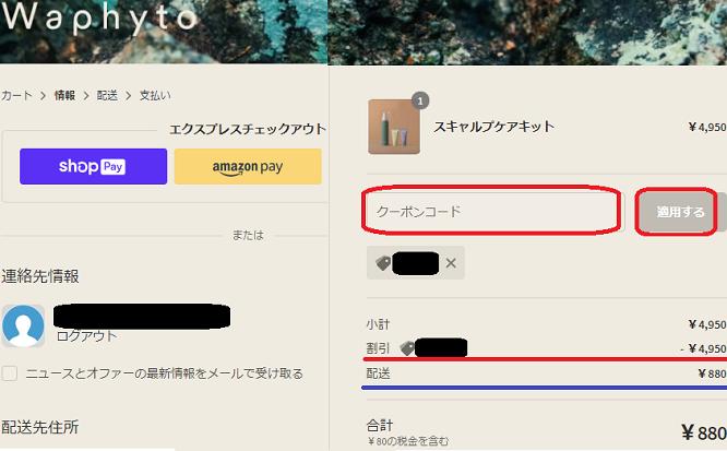 武蔵精密工業優待(クーポン)利用 Waphyto(ワフィト)